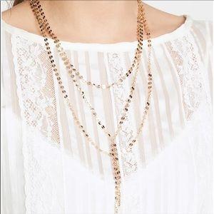 Baublebar Y-Necklace (Rose Gold Color)